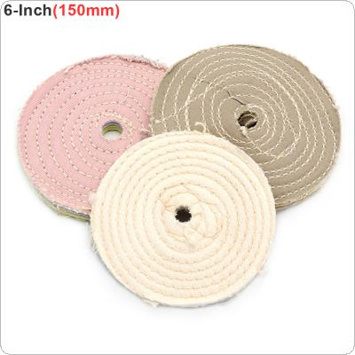 6 Inch  Cotton Cloth Polishing Wheel Mirror Polishing Buffer Cotton Pad with 10mm Hole for Metal Polishing / Car Polishing