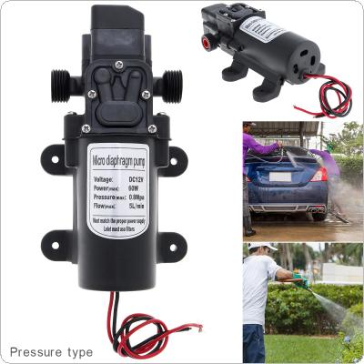 12V 60W 5L/min Self-suction DC Intelligent Mini Diaphragm High Pressure Electric Car Wash Pump for Car / Home / Garden