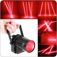 5W Red LED Beam Spotlight Ball DJ Bar Rotating Stage Light Fixed Lamp with Stand and Adjustable Angle