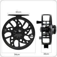 Ultralight 7/8 WT Fly Fishing Reel Max Drag 6KG / 13LB Aluminum Alloy CNC Machine Cut 145g Large Arbor Casting Former Ice Reel