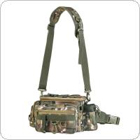34 x 17 x 16cm Outdoor Camouflage Waist Shoulder Messenger Fishing Bag Fishing Reel Lure Photography Camera Storage Bag