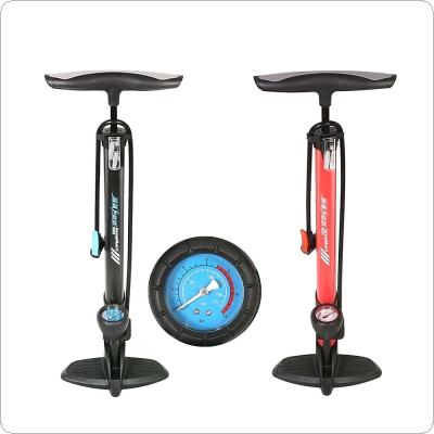 170psi High Pressure Bicycle Pump Presta & Schrader Valve Floor Tire Inflator with Barometer Gauge for Bike Electrombile and Car