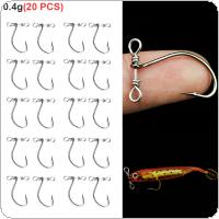 20pcs/lot 2.6cm 0.4g Crank Fishing Hooks High Carbon Steel Sharped Soft Bait Hooks