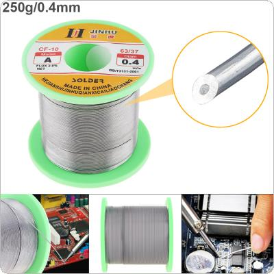 63/37 B-1 250g 0.4mm No Clean Rosin Core Solder Wire with 2.0% Flux and Low Melting Point for Electric Soldering Iron