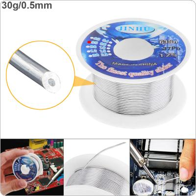 63/37 30g 0.5mm High Purity Rosin Core Solder Wire with 1.2% Flux and Low Melting Point for Electric Soldering Iron