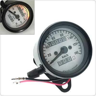 Universal 12V 140km / h  Dual Odometer Speedometer Gauge Speed Meter Night Light Backlight