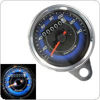 Universal Waterproof Motorcycle Speedometer Meter Double Color LED Light Odometer Speed Meter Gauge Miles for Motorcycle