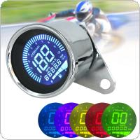 12V Universal Multi-function Silvery Motorbike Instrument Display Oil Level Meter LCD Gauge Tachometer Motorcycle Digital Speedometer