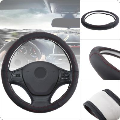 M 38CM Universal Leather Fashion Splicing  Breathable Anti Slip Car Styling Steering Wheel Cover