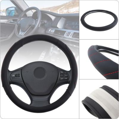 M 38CM Universal Micro Fiber Leather Fashion Splicing Color Breathable Anti Slip Car Styling Steering Wheel Cover