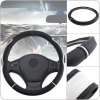 M 38CM Universal Leather Fashion Splicing Color Breathable Anti Slip Car Styling Steering Wheel Cover