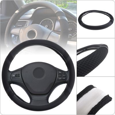 M 38CM Universal Leather + Ice Silk Breathable Anti Slip Car styling Steering Wheel Cover