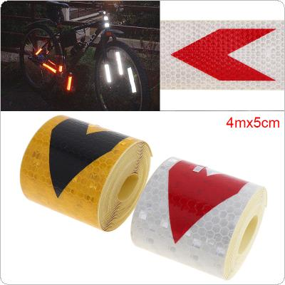 2 Colors 5 x 400 CM Universal Any Clipping Arrow Security Warning Reflective Tape Car Body Sticker for Cars / Trucks / Motorcycles / Bicycles