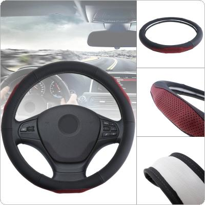 M 38CM Universal Leather Fashion Splicing Color Breathable Anti Slip Car Styling Steering Wheel Cover with Massage Protruding