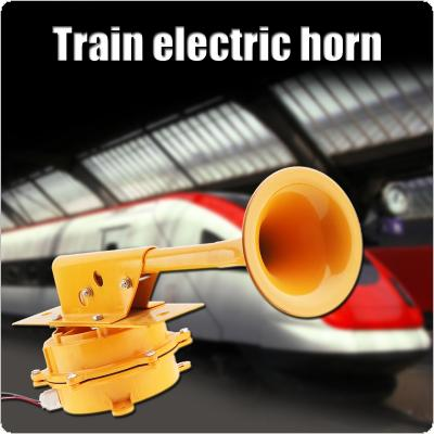 12V / 24V 126DB Super Loud All Metal Train Horn No Need Compressor for Truck / Boat / Train / Lorry