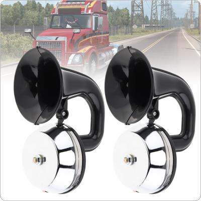 12V / 24V 126DB Super Loud Dual Trumpet Air Horn Waterproof Dustproof  with Bracket / Relay No Need Compressor