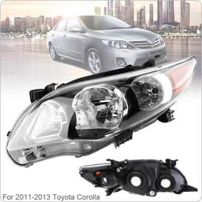 Waterproof Durable Passenger Side / Left Side Headlight  for 2011-2013 Toyota Corolla Base/CE/LE