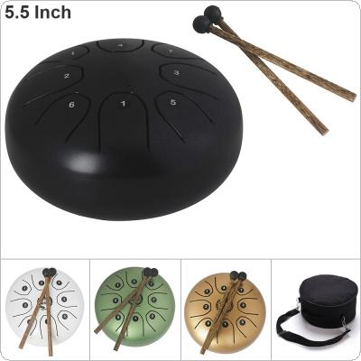 5.5 Inch Hand Size Tongue Drum 8 Notes with Bag and Drum Stick 5 Colors Optional