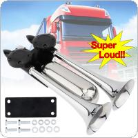 12-24 V 100-115 DB Super Strong Noisy Air Compressor Dual Trumpet Air Horn for Car Truck Boat Train Vehicle