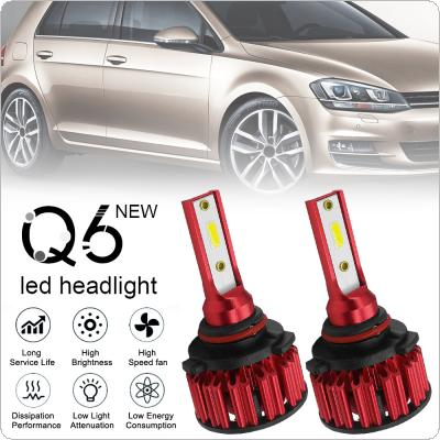 2pcs HB4 / 9006 Q6 12000LM 6000K 120W DOB LED Car Headlight Kit Hi or Lo Light Bulb