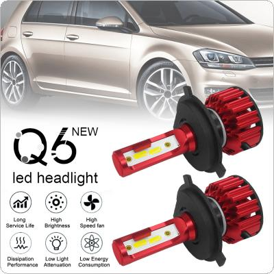 2pcs H4 / 9003 / HB2 Q6 12000LM 6000K 120W DOB LED Car Headlight Kit Hi / Lo Light Bulb