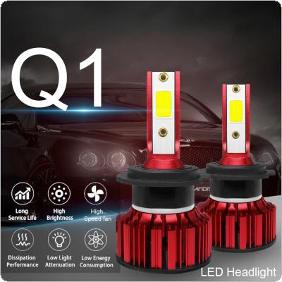 2pcs H7 Q1 12000LM 6000K 120W COB LED Car Headlight Kit Hi or Lo Light Bulb