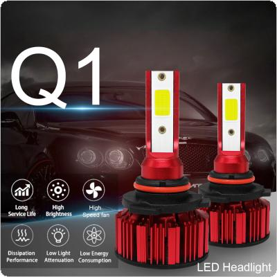 2pcs HB4 9006  Q1 12000LM 6000K 120W COB LED Car Headlight Kit Hi or Lo Light Bulb