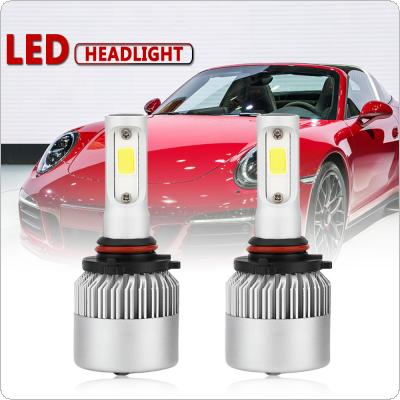 2pcs 9005 / HB3 / H10 S2 72W 8000LM 6000K White LED Headlight Hi or Lo Beam Head Lamp for Cars