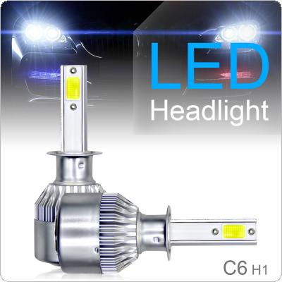 2pcs H1 C6 10800LM 6000K 120W COB LED Car Headlight Kit Hi or Lo Light Bulb