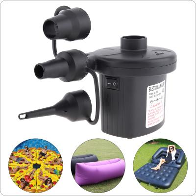 UK DC 12V Portable Replaceable Dual Purpose Air Pump Electrical Suction / Inflatable pump with 3 Nozzles for Car / Home