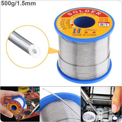 60/40 B-1 500g 1.5mm No Clean Rosin Core Solder Wire with 2.0% Flux and Low Melting Point for Electric Soldering Iron