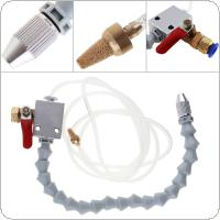 White Tube Quick Insertion Cooling Sprayer with Ball Valve Adjustment and Connect 8mm Air Pipe for Metal Cutting Engraving Cooling Machine