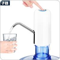 Portable Push Button Wireless Rechargeable Electric Dispenser Water Pump with USB Cable and 304 Stainless Steel Tube for 4.5L - 18.9L Barrelled Water