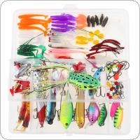140pcs/lot Fishing Lures Kit Mixed Hard Lures Soft Baits Minnow Crank Popper VIB Sequins Wobbler Frog Lure with Box