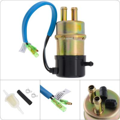Universal 490401055 12V 1A  60-80 LPH Auto Motorcycle High Flow Electric Fuel Pump with Installation Accessories for XRV750 Africa Twin 1990-2003 / Kawasaki