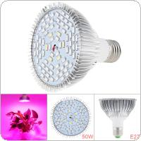 E27 85V-265V 50W 78 LEDs Plant Fill Grow Light Full Spectrum Band Red 42 + Blue 18 + Warm 6 + Infrared 6 + UV 6 for Grow Tent / Bonsai