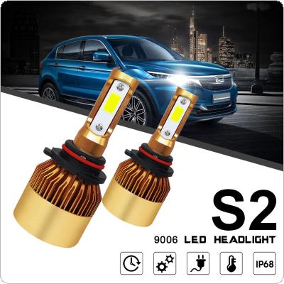 2pcs 9006 / HB4 S2 72W 8000LM 6000K White LED Headlight Hi or Lo Beam Head Lamp for Cars