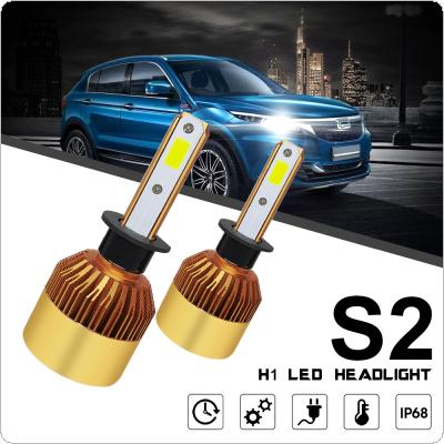 2pcs H1 S2 72W 8000LM 6000K White LED Headlight High or Low Beam Head Lamp for Cars