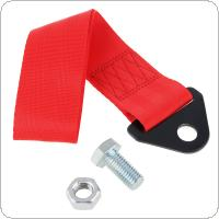 2 Inch 25CM Red Universal Car Vehicle Refitted Traction Belt Truck Towing Ropes Trailer Hook with Screws and Nuts