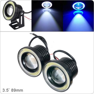 Universal  2pcs 3.5 Inch 89MM 12V 1200LM DRL Car LED Angel Eye Fog Lamp COB Diaphragm Daytime Running Light