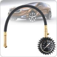 Portable  ABS + Metal 100PSI  Precision Pointer Style Tire Pressure Gauge with Lengthening Hose and Short Pressure Measuring Valve for Car Tire