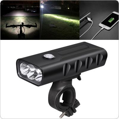 Waterproof Rechargeable USB 3 T6 LED Bicycle Lamp with 360 Degree Rotation Bracket and 3 Modes Light for Bicycle