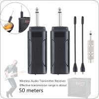 Professional Portable Electric Guitar Bass Wireless Audio Transmitter Receiver System Support 50M Effective Transmission Range