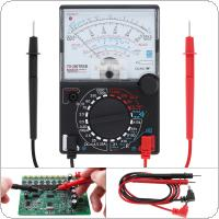 YX- 360TRES Mini Portable Pointer Style Multimeter with One Pair Test Pen  for Measuring DC AC Voltage and DC Curren