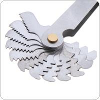 24pcs/set Metric Stainless Steel Thread Gauge 60 Degree Screw Pitch Gauge with 0.25-6.0 Blades Range for Industrial Measurement