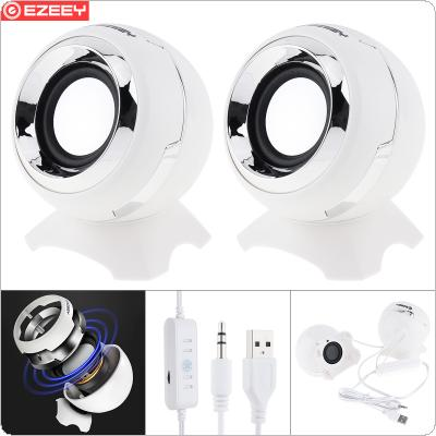 EZEEY Q8 Mini Subwoofer Speaker with 3.5MM Audio Socket and Volume Control for Laptop / Phone / MP3 / MP4