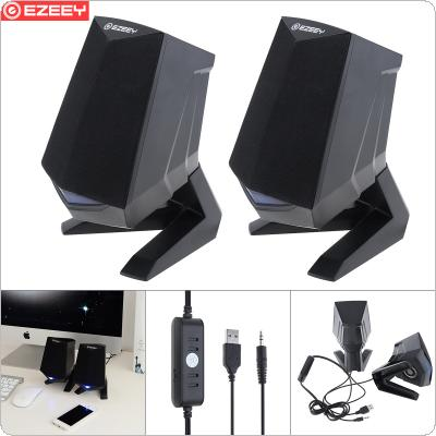 EZEEY A4 Subwoofer Speaker with 3.5MM Audio Socket and Volume Control for Desktop / Notebook / Mobile