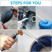 6mm Rubber + Aluminum Manual Hand Suction Pump with Fuel Liquid Transfer Pump Pipe for Car / Boat / Marine / Motorcycle