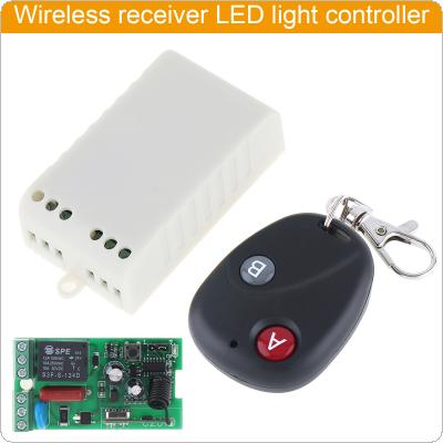 Receiver + Transmitter AC 220V 1CH RF Wireless Remote Switch  For Light Switch and Electrical Equipment