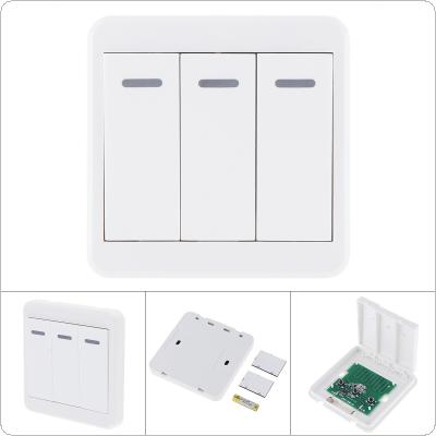 Sensitive 433MHz Universal Wireless Remote Controls 86 Wall Panel RF Transmitter With 3 Buttons for Home Room Lighting Switch